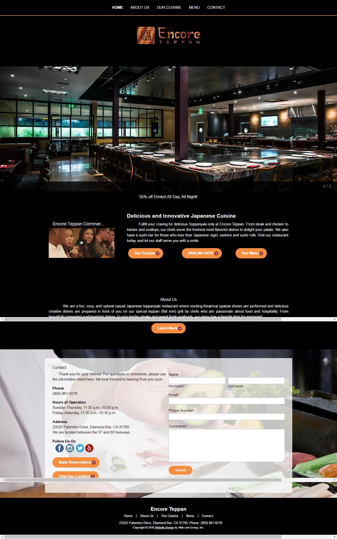 Japanese Restaurant Diamond Bar CA Encore Teppan – AdliveTech