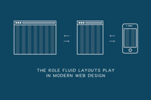 A fluid layout is an essential part of modern responsive design. In the old days, you set a static value for each HTML element, like 600 pixels.