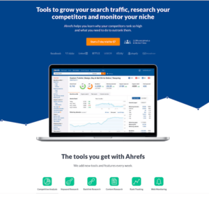 Ahrefs is one of the most comprehensive SEO analysis tools that gives you extensive tools to analyze your site as well as keep track of your competitors.