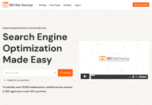 SEOSiteCheckup is an All-in-one platform for accessing overloaded analysis and monitoring tools that facilitates search engine optimization. It is a top trusted SEO monitoring tool for over 15,000 webmasters, small business owners and SEO agencies in over 120 countries
