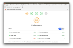 Lighthouse was recently updated to version 6.0, including additional audits, new values, and a new composite performance score.