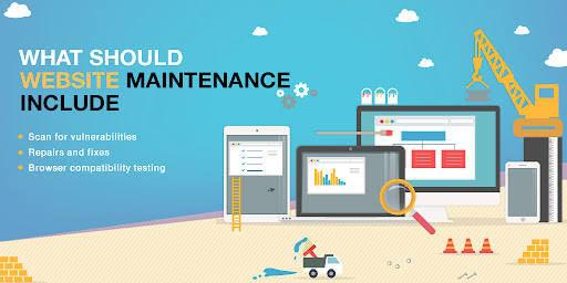 Website maintenance is an essential part of your web presence today. Website design and implementation is just the beginning. Modern sites are complex collections of software that require regular attention and adjustments. And, just like the driver who neglects his car, the site owner who neglects his site will find that it works badly for them even when they need it, which pulls on all the cylinders.